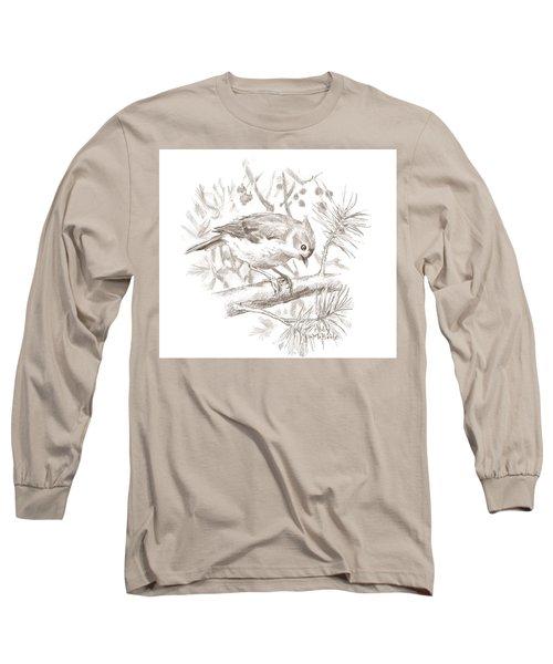 Tufted Titmouse Long Sleeve T-Shirt
