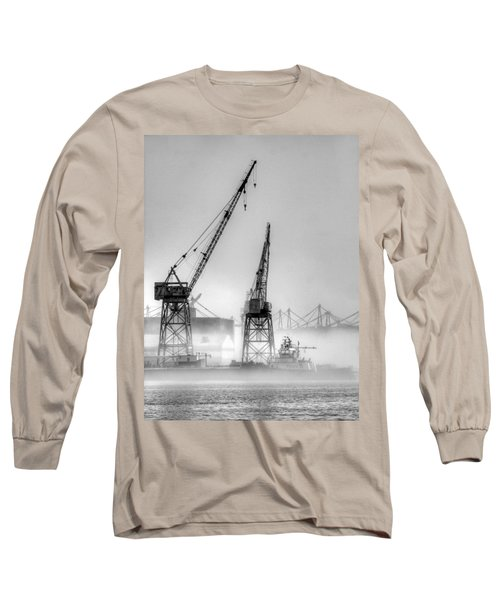 Tug With Cranes Long Sleeve T-Shirt