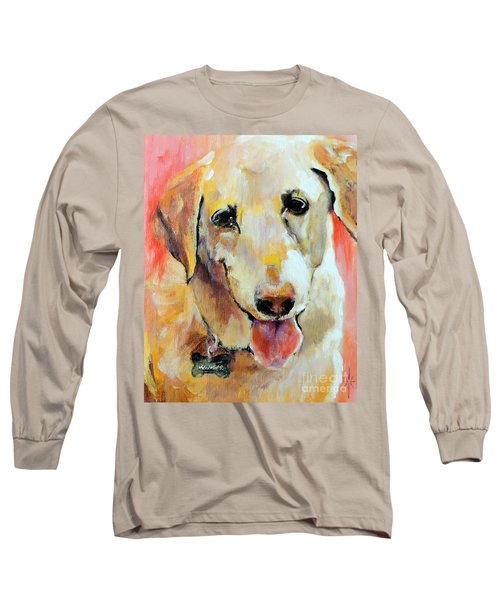 Long Sleeve T-Shirt featuring the painting Tulip by Jodie Marie Anne Richardson Traugott          aka jm-ART