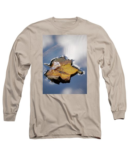 Tulip Leaf On Water Long Sleeve T-Shirt by Jane Ford