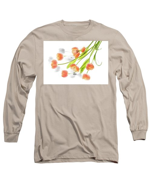 A Creative Presentation Of A Bouquet Of Tulips. Long Sleeve T-Shirt