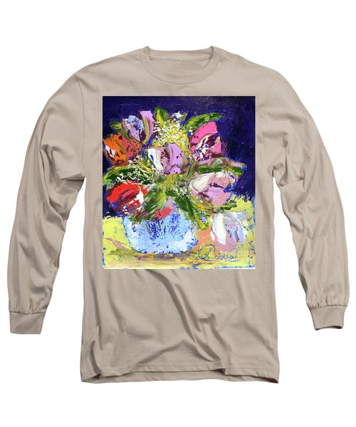 Tulips And Gypsophila Long Sleeve T-Shirt