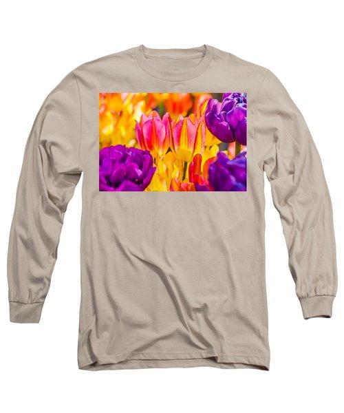 Long Sleeve T-Shirt featuring the photograph Tulips Enchanting 45 by Alexander Senin