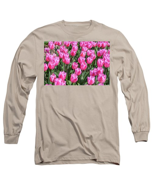 Long Sleeve T-Shirt featuring the photograph Tulips In Pink Color by Patricia Hofmeester