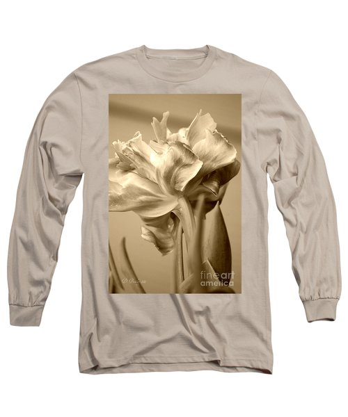 Tulips In Sepia Long Sleeve T-Shirt