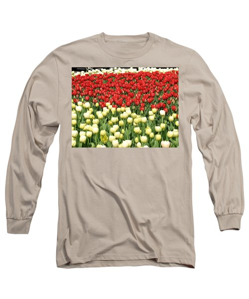 Tulips Of Spring Long Sleeve T-Shirt by Christopher Woods