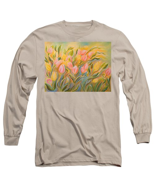 Tulips Long Sleeve T-Shirt by Theresa Marie Johnson
