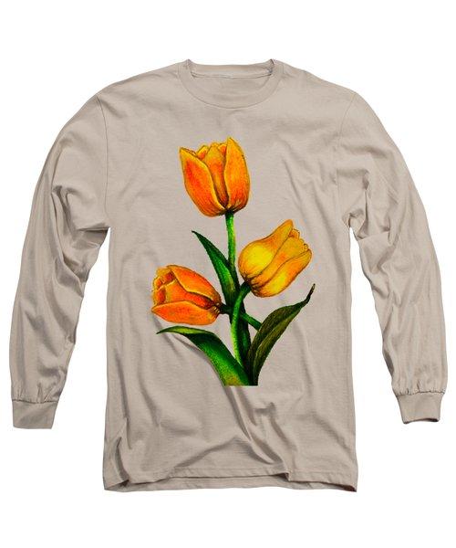 Tulips Long Sleeve T-Shirt by Zina Stromberg