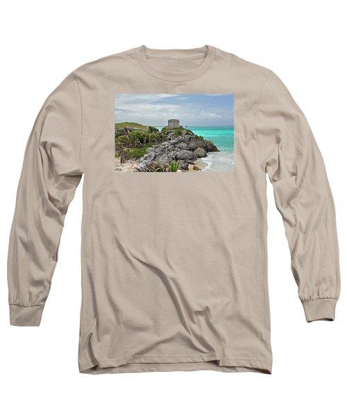 Tulum Mexico Long Sleeve T-Shirt by Glenn Gordon