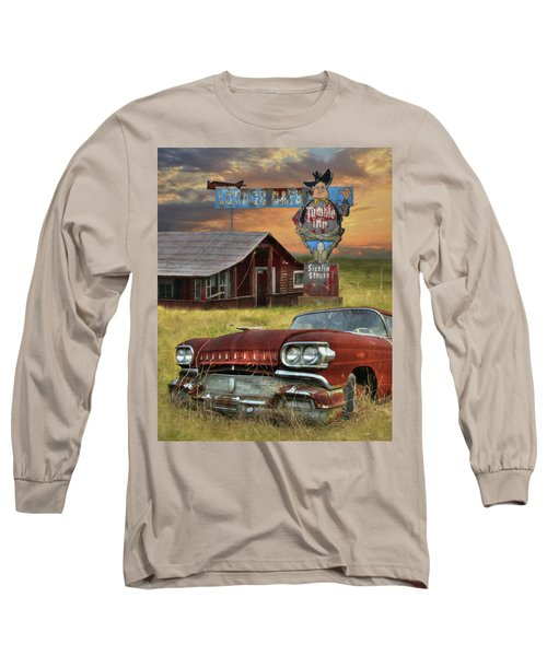 Long Sleeve T-Shirt featuring the photograph Tumble Inn by Lori Deiter