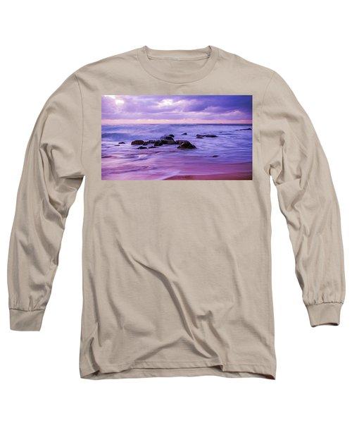 Turbulent Daybreak Seascape Long Sleeve T-Shirt