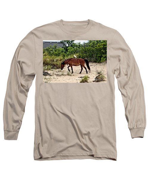 Turn Right At The Next Bush Long Sleeve T-Shirt