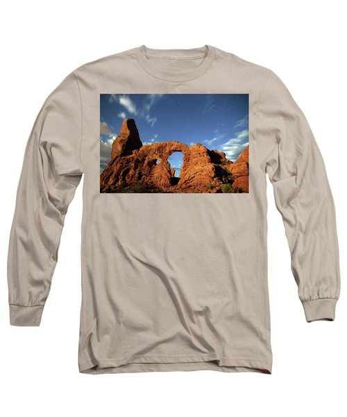 Turret Arch In The Moonlight Long Sleeve T-Shirt