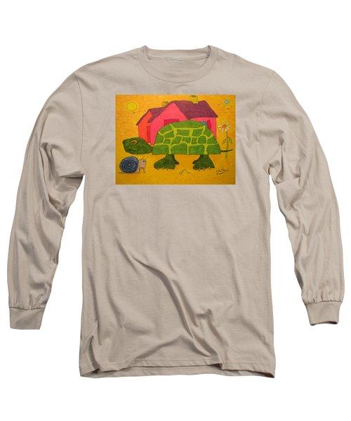 Turtle In Neighborhood Long Sleeve T-Shirt
