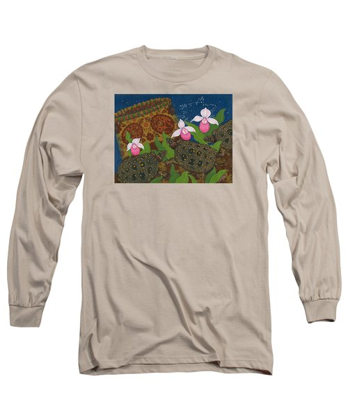 Long Sleeve T-Shirt featuring the painting Turtle - Mihkinahk by Chholing Taha