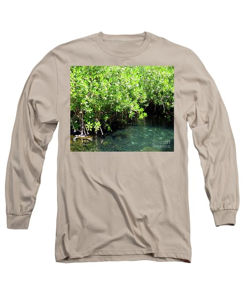 Long Sleeve T-Shirt featuring the photograph Turtle Swim by Francesca Mackenney