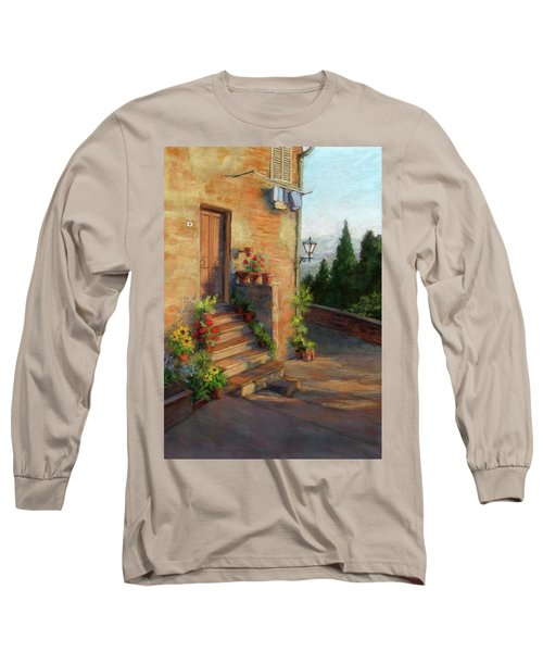 Long Sleeve T-Shirt featuring the painting Tuscany Morning Light by Vikki Bouffard