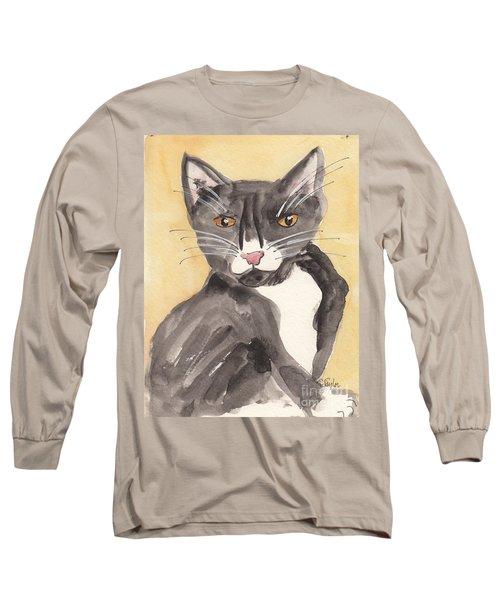 Tuxedo Cat With Attitude Long Sleeve T-Shirt