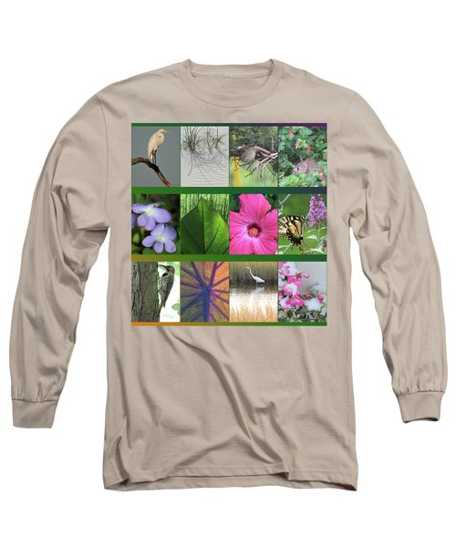 Long Sleeve T-Shirt featuring the photograph Twelve Months Of Nature by Peg Toliver