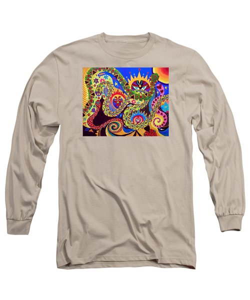 Long Sleeve T-Shirt featuring the painting Serpent's Dance by Marina Petro