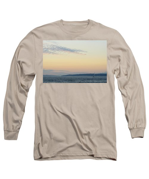 Twilight Moment In Puget Sound Long Sleeve T-Shirt