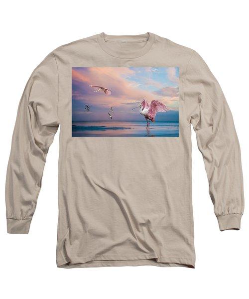 Twilight On The Gulf Long Sleeve T-Shirt