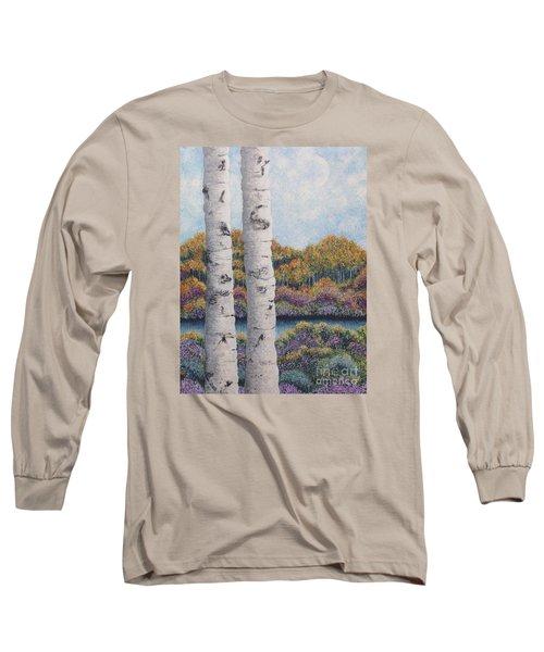 Twin Aspens Long Sleeve T-Shirt by Holly Carmichael