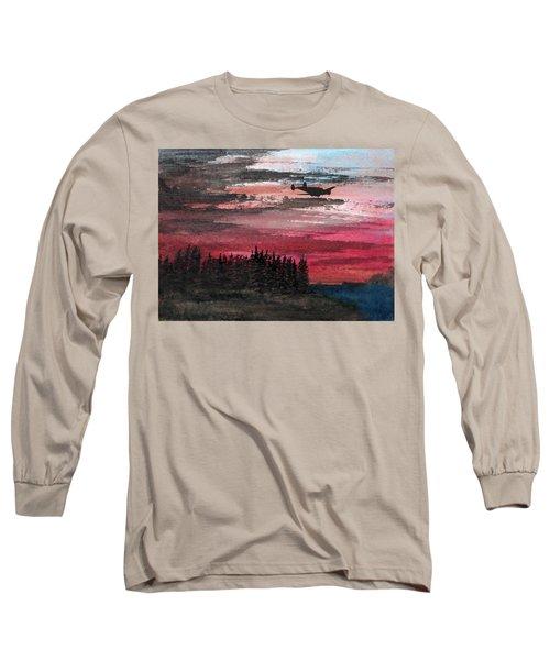 Twin Beech Late Long Sleeve T-Shirt by R Kyllo