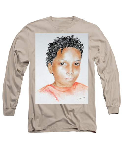 Twists, At 9 -- Portrait Of African-american Boy Long Sleeve T-Shirt