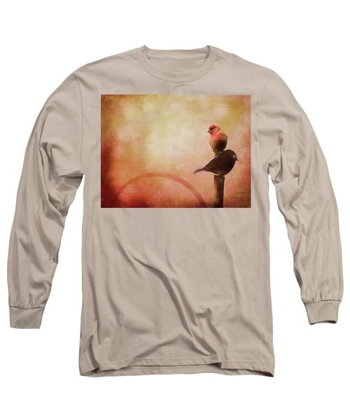 Two Birds In The Mist Long Sleeve T-Shirt