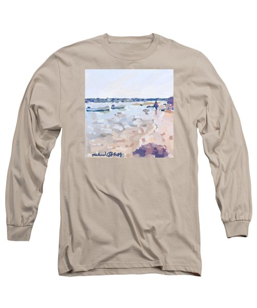 Two Boats At Ten Pound Island Beach Long Sleeve T-Shirt