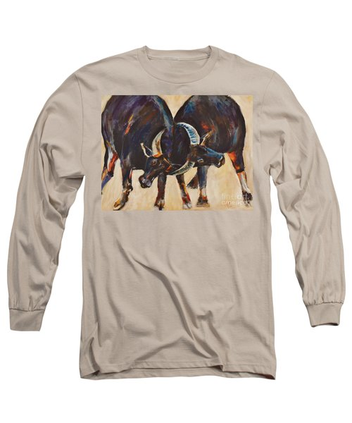Two Bulls Fighting Long Sleeve T-Shirt