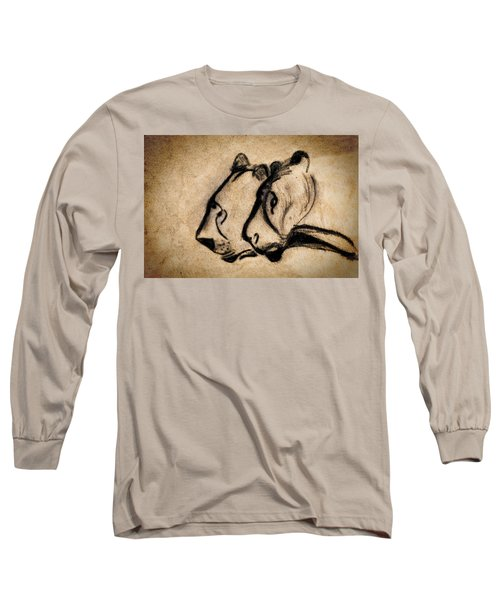 Two Chauvet Cave Lions Long Sleeve T-Shirt