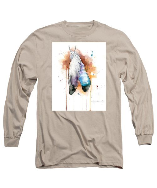 Two Feathers Long Sleeve T-Shirt