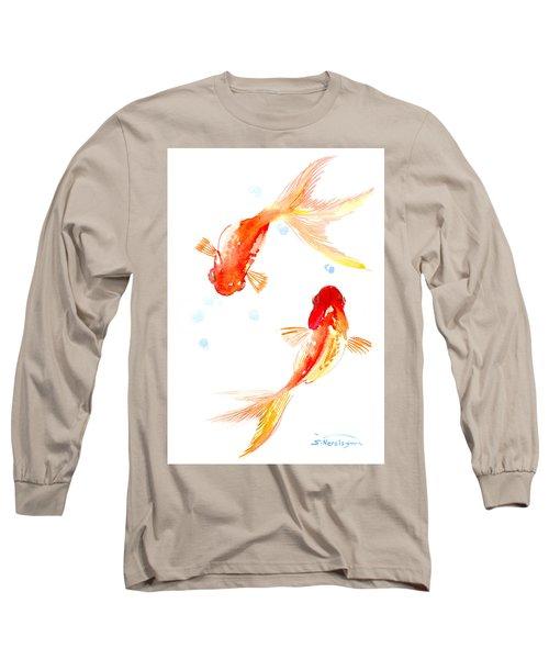 Two Goldfish Feng Shui Long Sleeve T-Shirt