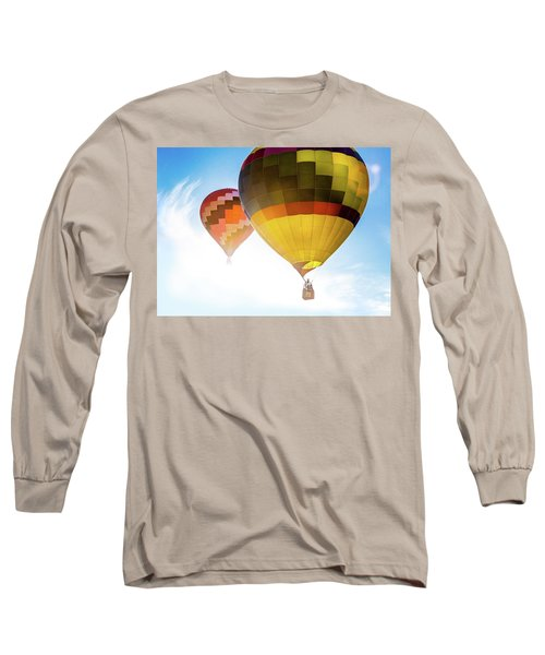 Two Hot Air Balloons Into The Sun Long Sleeve T-Shirt