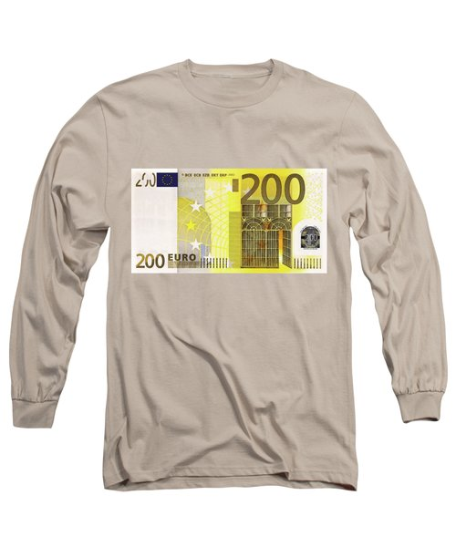 Two Hundred Euro Bill Long Sleeve T-Shirt