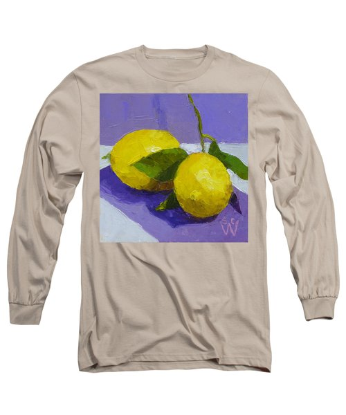 Two Lemons Long Sleeve T-Shirt by Susan Woodward
