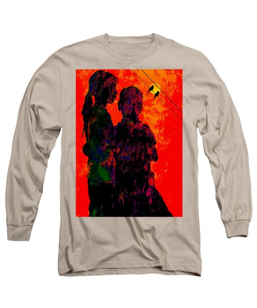 Long Sleeve T-Shirt featuring the digital art Two Of Us by Bliss Of Art