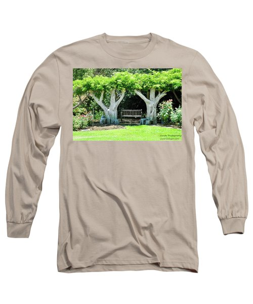 Long Sleeve T-Shirt featuring the photograph Two Tall Trees, Paradise, Romantic Spot by Gandz Photography