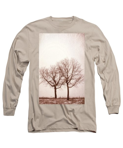 Long Sleeve T-Shirt featuring the photograph Two Trees#1 by Susan Crossman Buscho