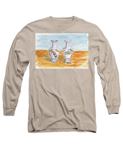 Two-view Vase Long Sleeve T-Shirt