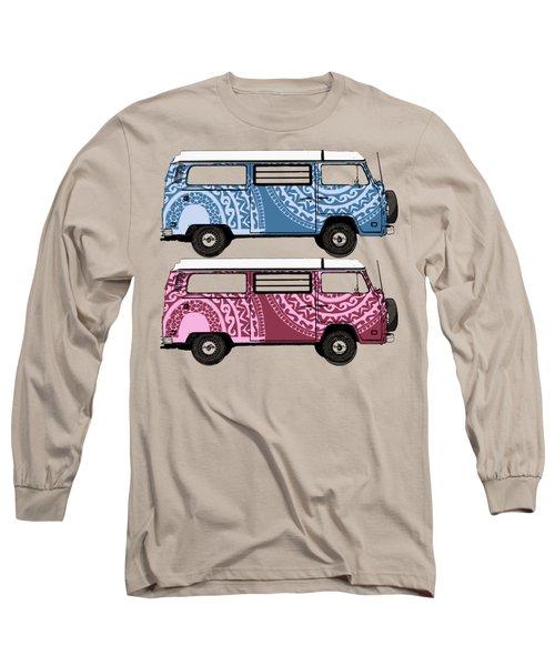Two Vw Vans Long Sleeve T-Shirt