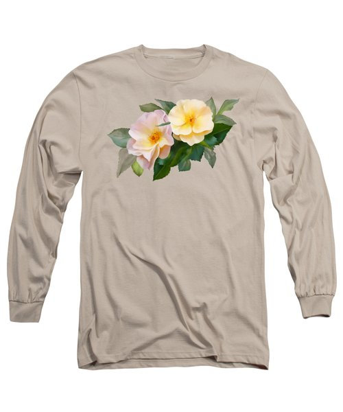 Two Wild Roses Long Sleeve T-Shirt