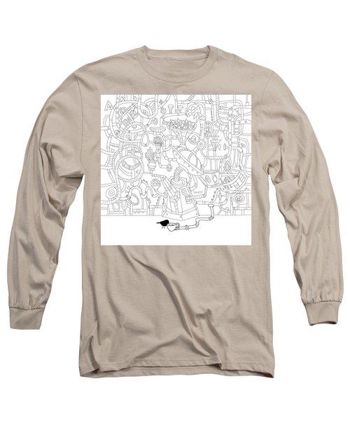 Two Worlds Long Sleeve T-Shirt by Smokini Graphics