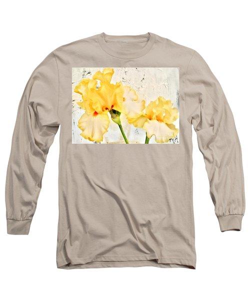 Two Yellow Irises Long Sleeve T-Shirt