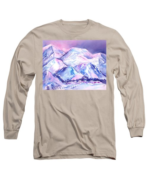 Typical Swiss Mountain Village Long Sleeve T-Shirt