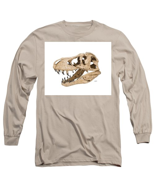Tyrannosaurus Skull Long Sleeve T-Shirt