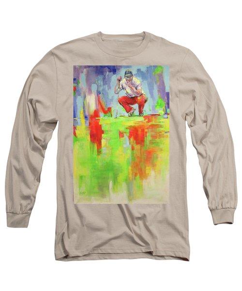 Ueberpruefe Die Luege Des Gruens   Checking The Lie Of The Green Long Sleeve T-Shirt by Koro Arandia