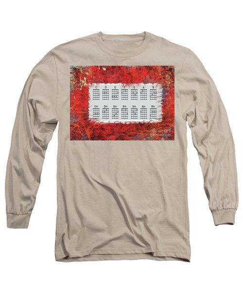 Ukulele Basic Chords Long Sleeve T-Shirt